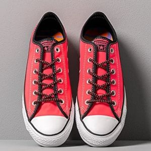 Converse Hot Pink Low Top Chuck Taylor Sneakers
